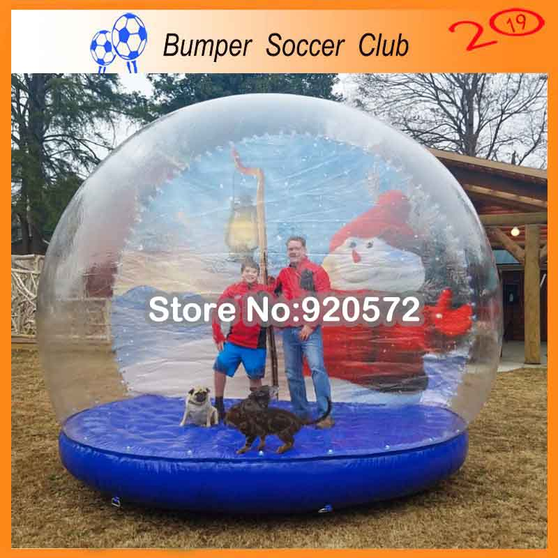 Livraison gratuite pompe gratuite 5 m gonflable globe de neige cabine photo, gonflable halloween globe de neige tente à vendre