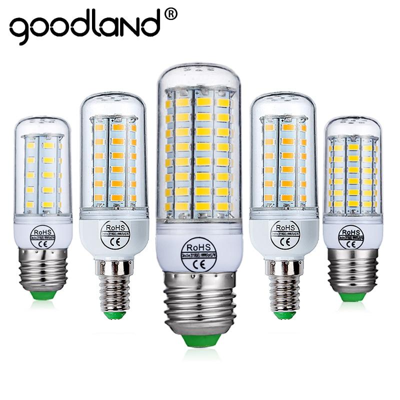 Goodland E27 LED Lamp SMD 5730 E14 LED Light 220V LED Bulb 24 36 48 56 69 72 LEDs Corn Bulb Chandelier for Home Lighting 2pcs real full watt 3w 5w 7w 8w 12w 15w e27 e14 led corn bulb 85v 265v smd 5736 led lamp spot light 28 40 72 108 132 156 leds