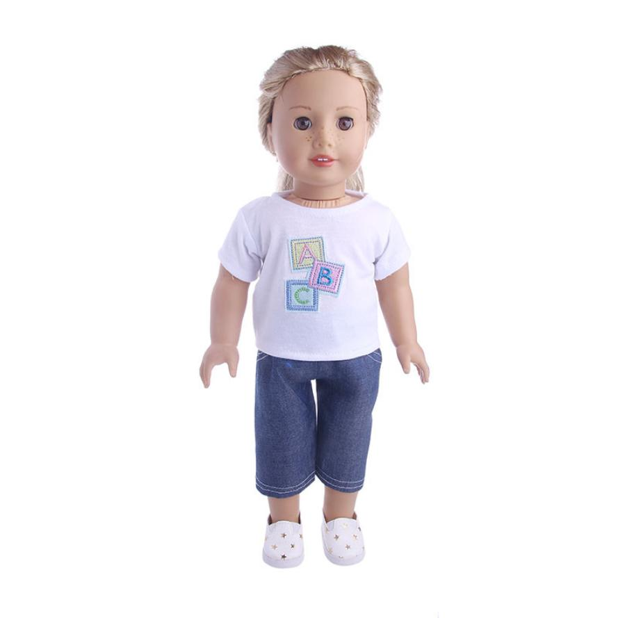 Dolls Accessories 2017 Cute Clothes & Pants Clothes For 18 inch Our Generation American Girl Doll D30