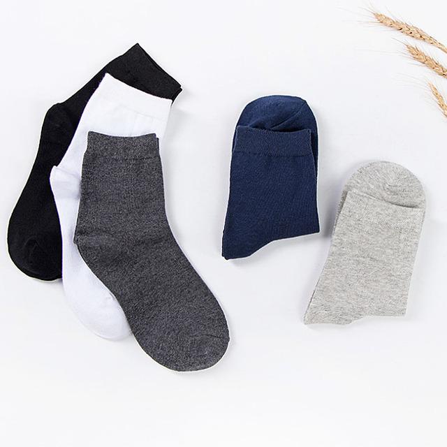 LNRRABC Spring Autumn Cotton Men's Business Socks Solid Color Tube Socks Male Casual Men Socks Wholesale Chaussette Meias