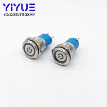 1Pcs Waterproof Metal Push Button Switch 16mm With LED light 5V 12V 24V 220V RED BLUE GREEN YELLOW WHITE Self-reset/Self-Locking стоимость