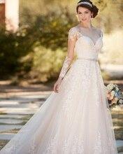 Vestido De Noiva De Renda 2016 Vintage Long Sleeves Lace Wedding Dresses Turkey Bridal Gown Sexy Civil Women Wedding Dress 2016