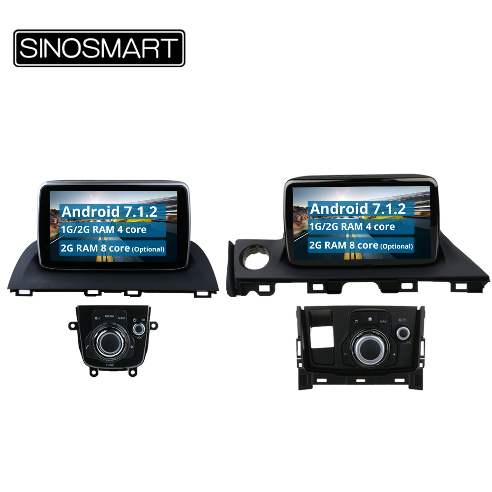 Sinosmart Quad Core Android 81 2g Ram Car Radio Gps Navigation Fuse Box In Skoda Rapid 4 8 Cpu For Mazda 3