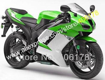 Sport Motorbike Fairing Kit For 2007 2008 Ninja ZX6R ZX-6R 07 08 Green ABS bodywork fairing kit (Injection molding)