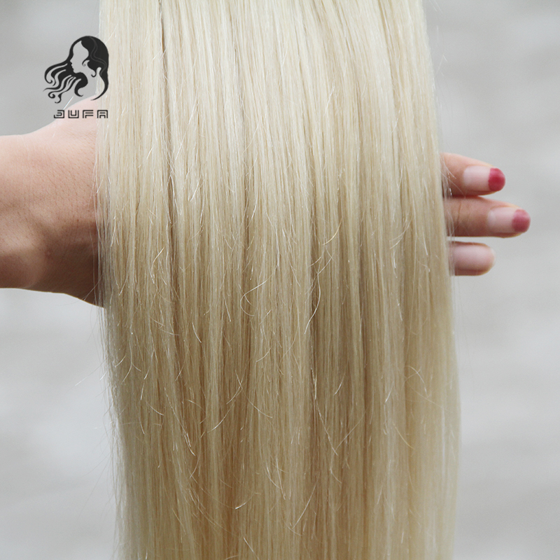 60 Platinum Blonde Tape In Human Hair Extensions 10 30 Brazilian