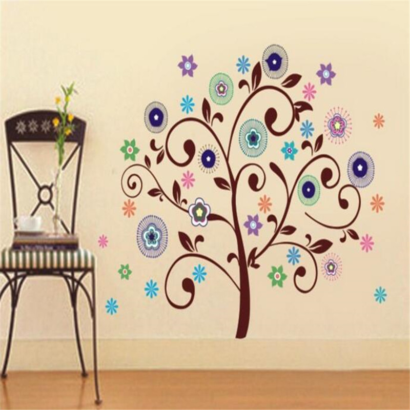 1PCS fashion new design cartoon wall stick for kids home decorate for tree  and flower wall stick wholesale and retail. Modern Furniture Retailers Promotion Shop for Promotional Modern