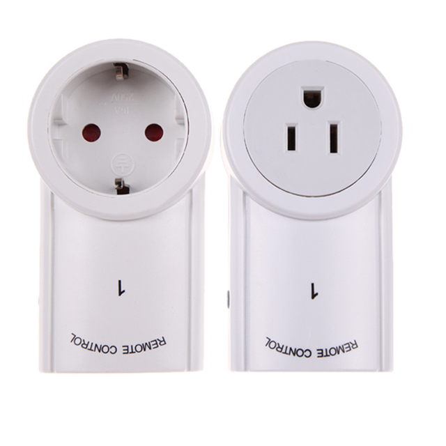 ALLOYSEED 120V/60Hz 2 Pack Remote Control Wireless Power Outlets Light Switch Socket US EU Plug For Indoor Electrical Plug