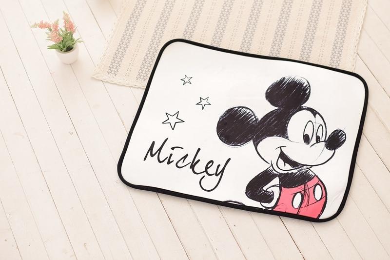1pcs 73 60cm Cartoon mickey Minnie Room door mats shape child play game mat Dream Princess