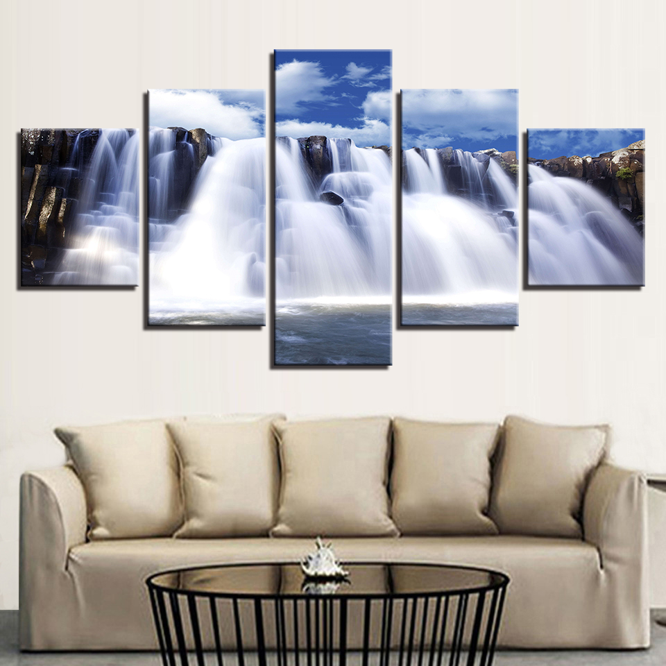 Canvas Pictures Wall Art Decor HD Prints 5 Pieces Mountain And ...