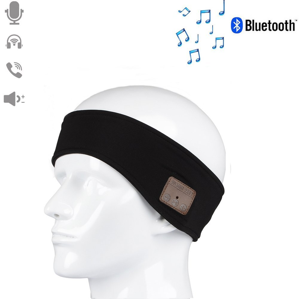 Bluetooth Headband Fitness Sweat Absorbed MP3 Music Player with Earphone Stereo Speakers Mic Hands Free for Indoor outdoor sport epgate d00280 hands free bluetooth v4 0 music earphone orange