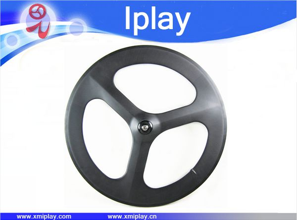 Roue à 3 rayons carbone route/piste/fixes en carbone roues 700c pneu roue à trois rayons 66mm route roues de vélo avec moyeu novatec