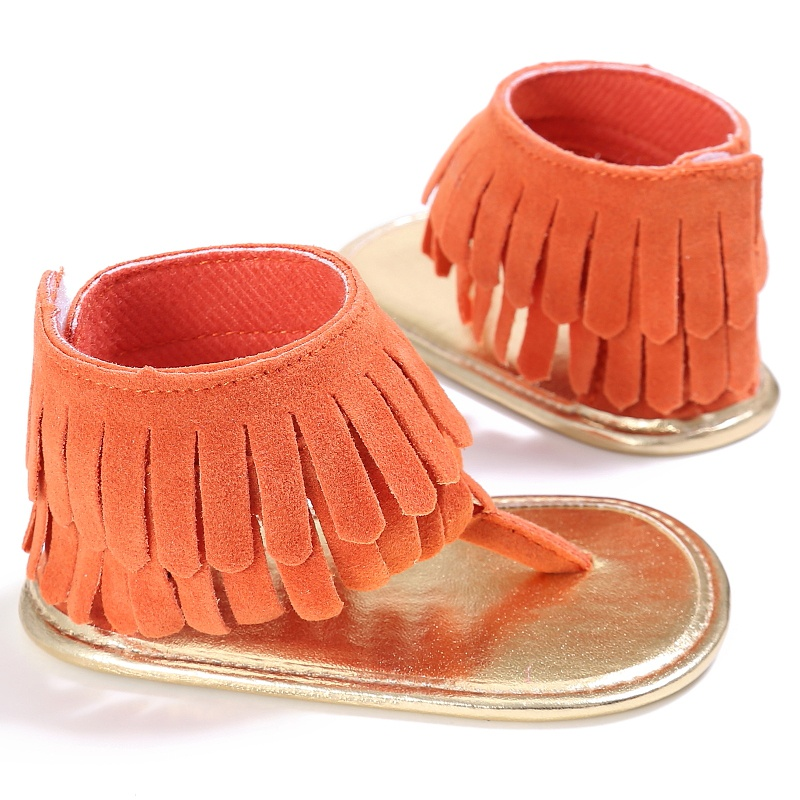 2017 New Fashion Tassel Summer Baby Sandals Soft Sole Pu Child Girls  Casual Shoes