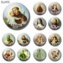 St Anthony Saint 30MM Fridge Magnet Bring Love To Your Life Glass Dome Magnetic Refrigerator Sticker Note Holder Home Decoration
