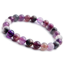Newly Natural Colorful Auralite 23 Cacoxenite Crystal Round Beads Bracelet 8mm Women Reiki Stone Canada Rarest AAAAA