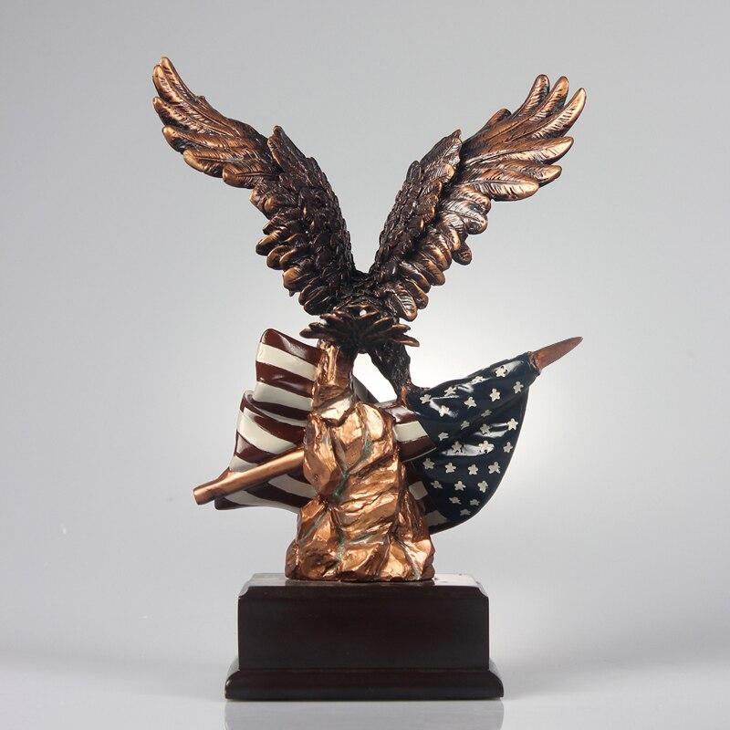 Ev ve Bahçe'ten Statü ve Heykelleri'de Benzersiz Amerikan Kartal Reçine Heykeli Heykeller Güçlü Kartal kuşlar ofis yeni ev dekorasyon Mobilyalar'da  Grup 3