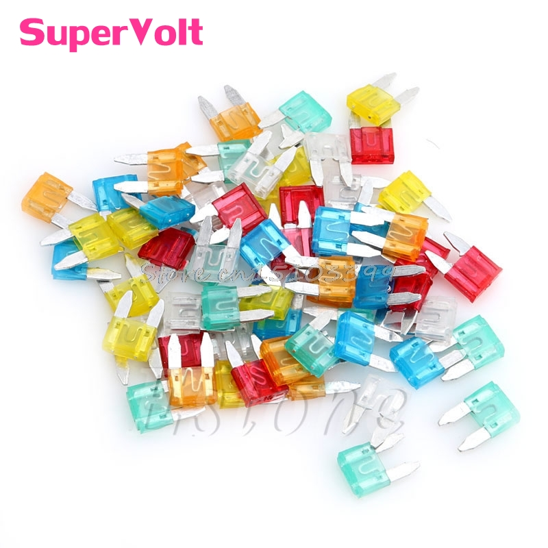 60Pcs Auto Car Truck ATC Fuse 5A 10A 15A 20A 25 30A AMP Mini Blade Mixed Set Kit #G205M# Best Quality auto automotive blade fuse holder with a line of high quality waterproof fuse auto automotive car blade fuse free shipping au12