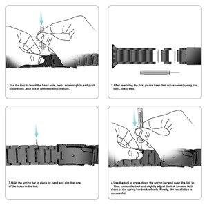 Image 5 - Pulseira de liga de titânio para apple watch band 38mm 42mm metal pulseira de pulso três links pulseira para apple assistir série 1 2 3 4 5