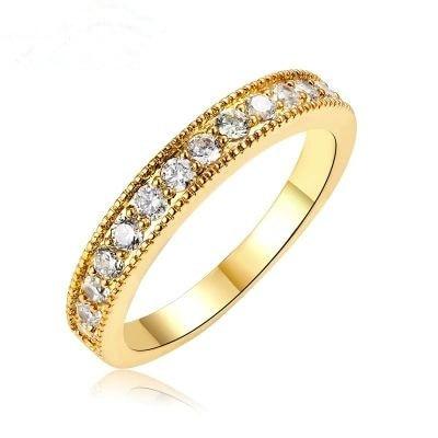 Elegant Gold Finger Rings Natural Stone Trendy Fine Women Jewelry