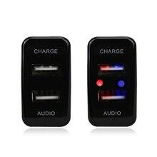 Автомобиль 5 В 2.1A интерфейсный разъем USB зарядное устройство и аудио вход USB разъем использовать для автомобиля Toyota Hilux Vigo развлечения Разъем