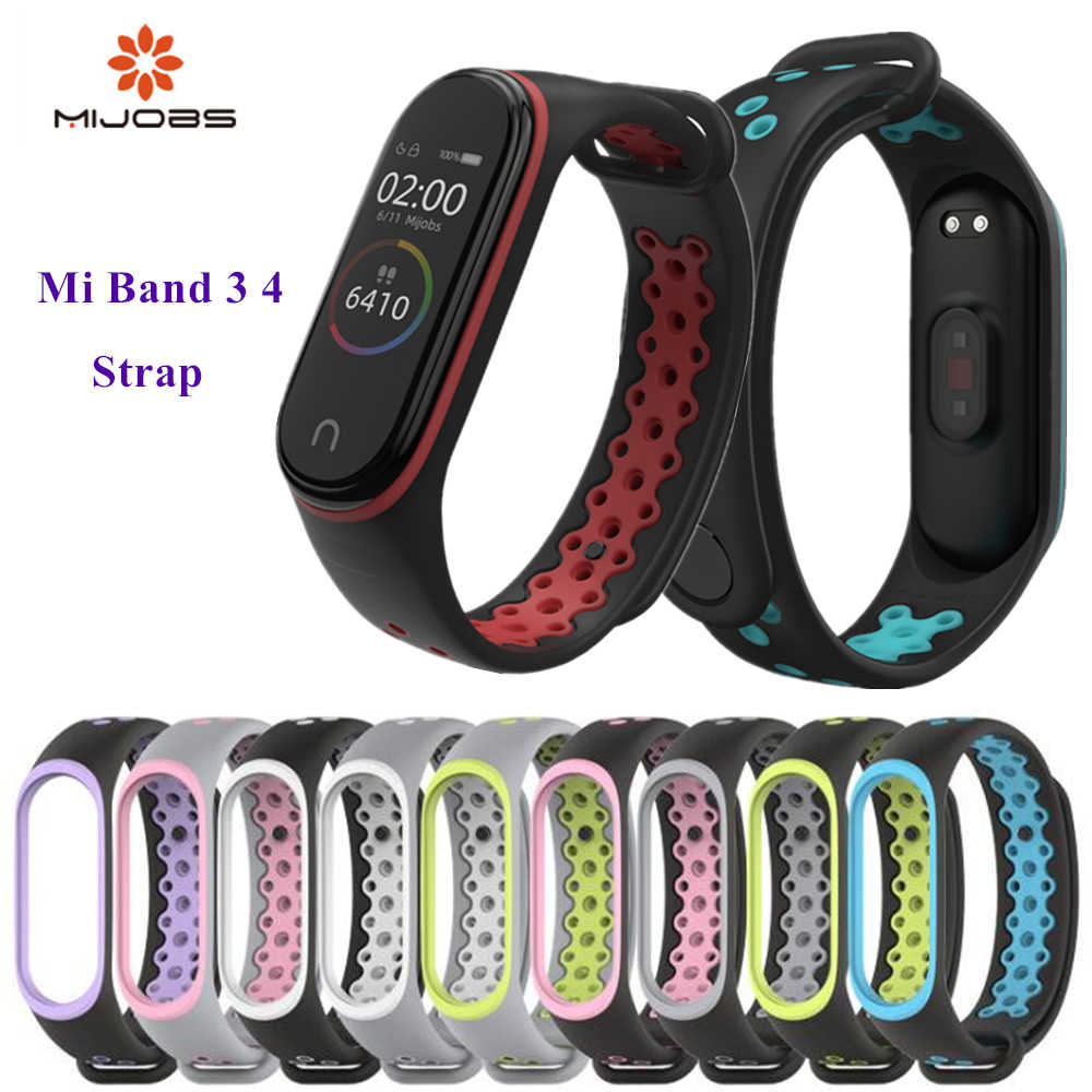 Mi Band 3 4 strap sport Silicone watch wrist Bracelet strap accessories Mi band3 bracelet smart for Xiaomi mi band 3 4 strap