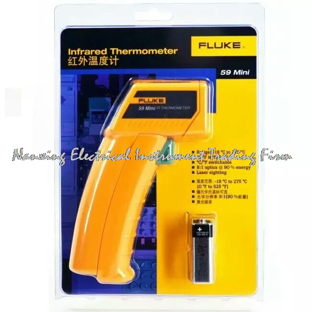 Fast arrival FLUKE 59 /F59 Infrared Thermometer for Non-contact temperature measurement Mini Handheld Laser Thermometer Gun цены