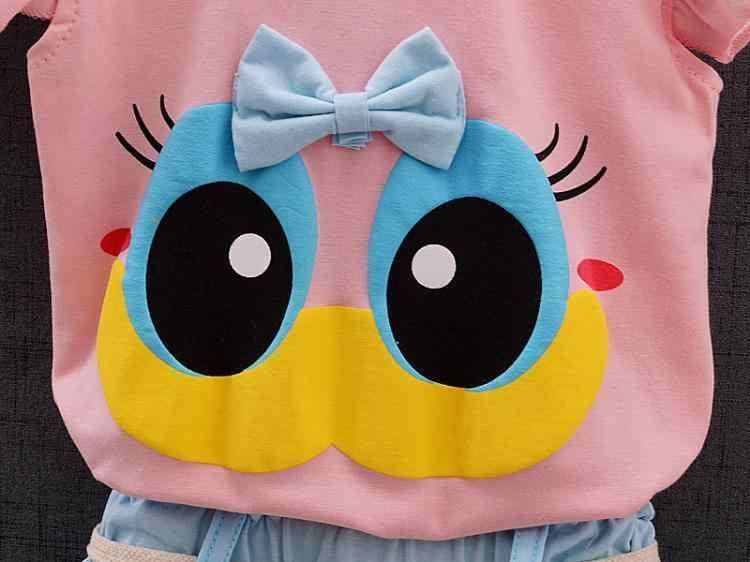Verão Da Marca de moda Infantil Bebê Menina Conjuntos de Roupas Esporte Encantador Cílios Longos Criança Calças Colete Ure Terno de Algodão Roupa Dos Miúdos