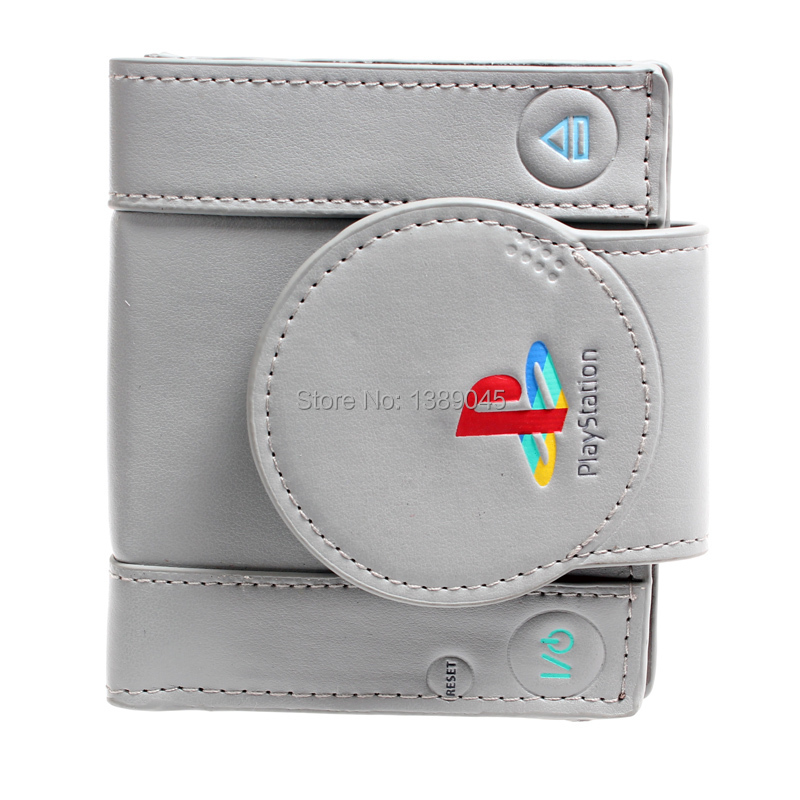 playstation  wallet youth student individuality original paragraphs short transverse fashion purse  DFT-1250 playstation console shaped bifold pu wallet playstation dft 1250a