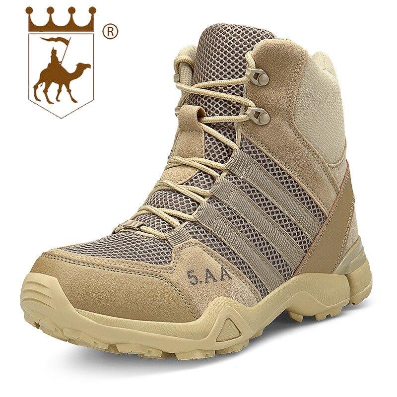 BACKCAMEL 2018 automne hiver antidérapant spécial hommes bottes haute formation chaussures tactiques bottes résistant à l'usure en plein air bottes militaires