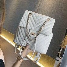 European and American Fashion Baggage Girl 2019 New FashionChain Small Backpack