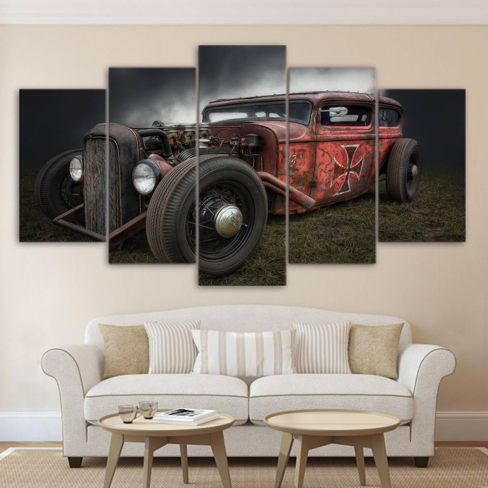 Painting canvas wall art pictures frame home decor for for Antique decoration pieces