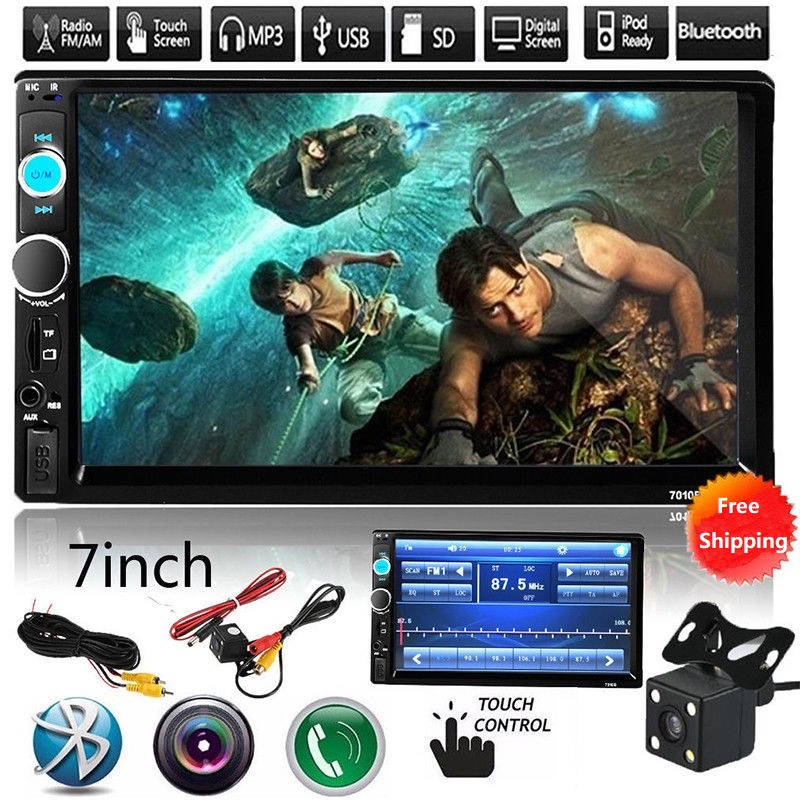 2 Din Autoradio 7 inch LCD Touch Screen 2din Car Radio 2 din MP3 Player Bluetooth Car Audio Rear View Camera USB AUX Auto Radio image