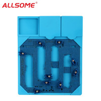 ALLSOME PCB Holder Repair Jig Fixture Work Station Logic Board A9 Chip Repair Tools for iPhone 6S 6SP with Heat Insulation Pad