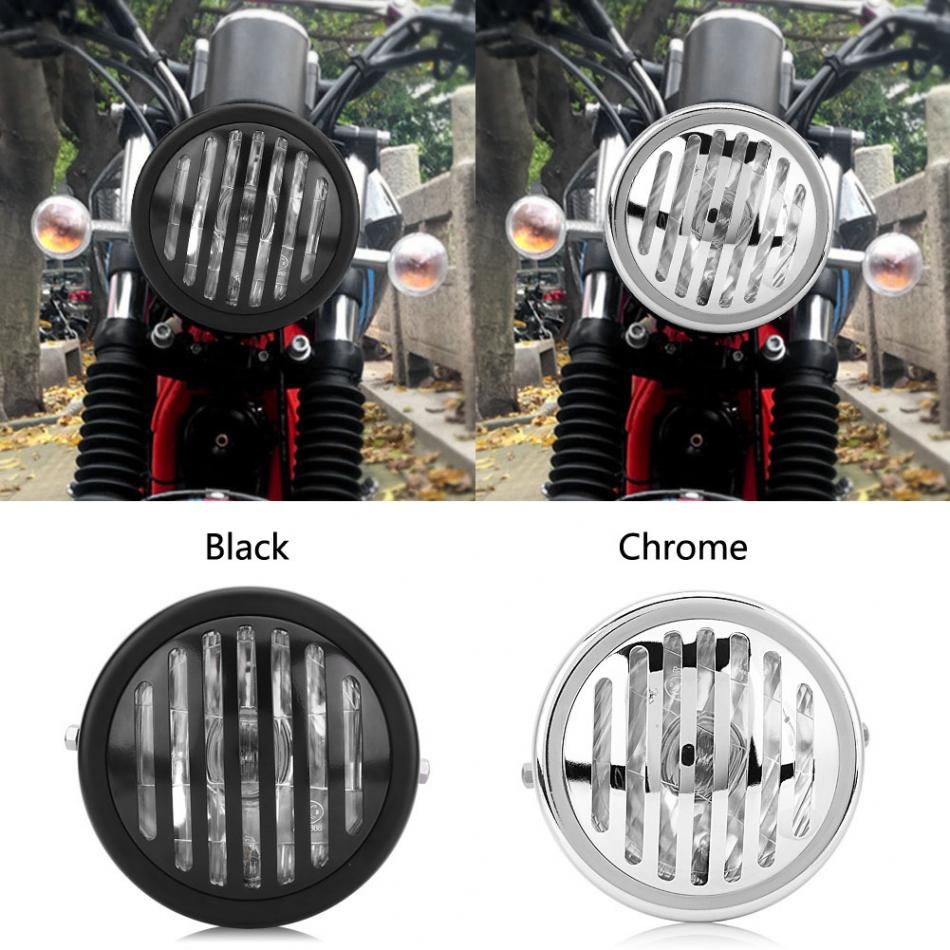 6.3 Inch Motorcycle Headlight Headlamp Grill Style Universal for Harley Cafe Racer Motorcycle Light Grill Style Headlight Hot