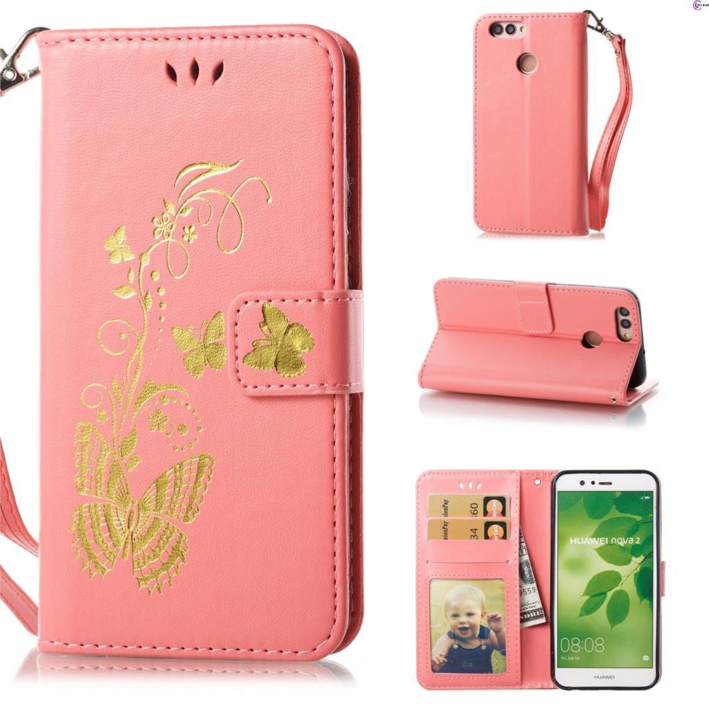 Flip Case for Huawei NOVA 2 Plus BAC-L22 BAC-L23 Butterfly Case Wallet Phone Leather Cover for Huawei NOVA2 Plus BAC L23 Capa