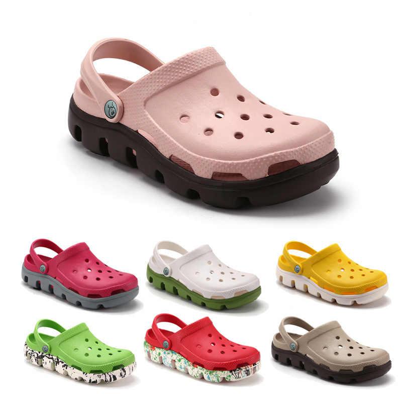 Men Hollow Beach Slippers Flip Flop Sandals Summer Outdoor Slip On Garden Shoes