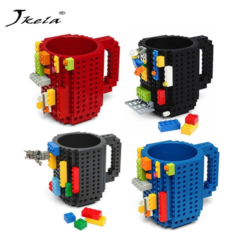 [Hot] Creative Milk Mug Coffee Cup Creative Build-on Brick Mug Cups Drinking Water Holder for LEGOings Building Blocks Design creative hardware wrench design handled coffee tea mug