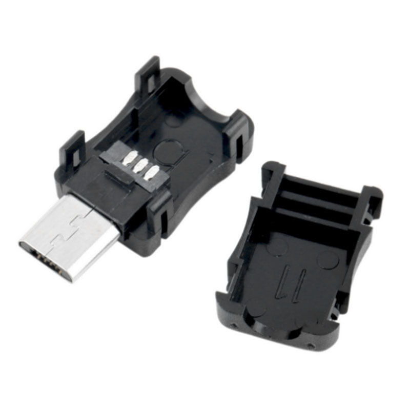 5/10pcs Micro USB 5 Pin Male Connector Port Solder Plug Plastic Cover for DIY 5pair 10pcs 5 pin 12mm male