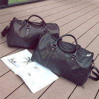 Fitness Training Sport Gym Bag Mens Weekend Overnight Luggage Women Duffel Totes Large Leather Handbags Shoes Storage Pockets