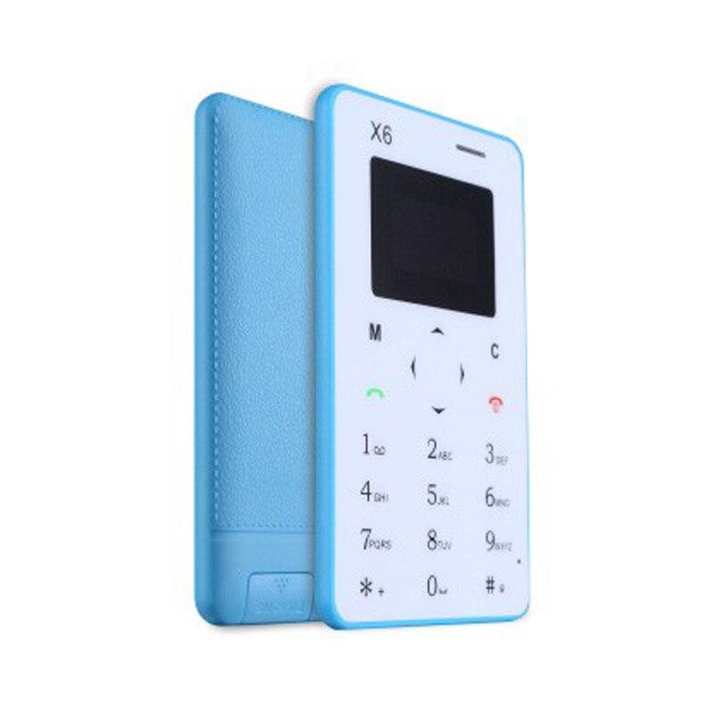 """Цена за Aiek/aeku x6 1.0 """"Quad Band Карты Мобильного Телефона Bluetooth 3.0 Аудио Плеер FM Студенты Дети Ультра Тонкий Карманный Мини Телефон"""