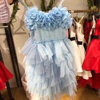baby girls boutique dress shimmer and shine sequin floral festive princess dress for girl elegant layered carnival dress