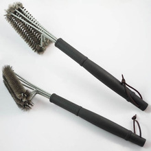 18″ Rugged Grill Cleaning Brush BBQ tool Grill Brush 3 Stainless Steel Brushes