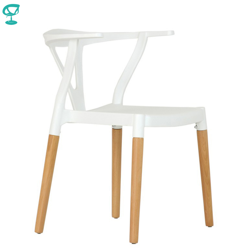 95425 Barneo N-218 Plastic Wood Kitchen Breakfast Interior Stool Bar Chair Kitchen Furniture White Free Shipping In Russia
