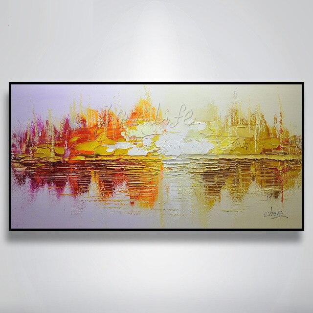 Hand Bemalte Leinwand Lgemlde Wandkunst Bilder Fr Wohnzimmer Billig Moderne Abstrakte Boot Schiff Segelyacht