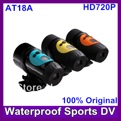 2013 Newest AT18A HD720P  Bike Mount Helmet Bracket 120 degree Sports Camera Free Shipping
