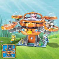 Idées de créateurs ville Les pieuvre poulpe Octonauts dessin animé blocs de construction modèles ensembles enfants jouet Compatible Duplo éclairer