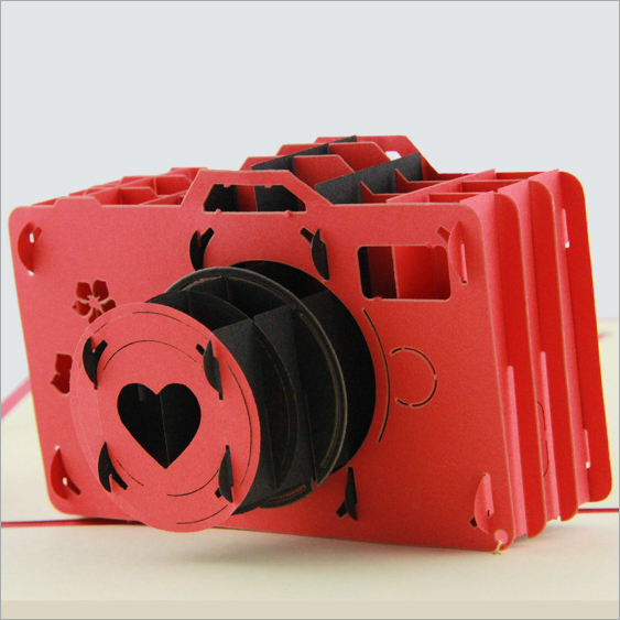 US $21 0 |Valentine's Day confession artifact 3D stereoscopic camera can be  customized photo greeting card ideas handmade cards postcards-in Business