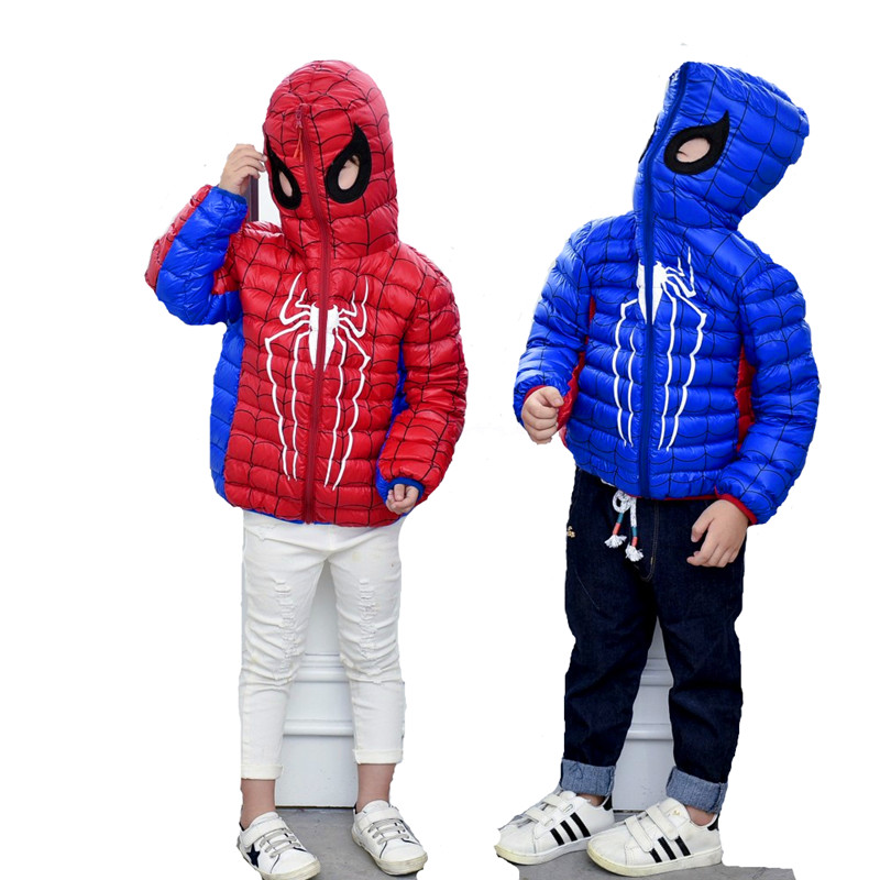 the love of cat and mouse Hooded Winter boys girls  girl white duck down cartoon  children  kids Spider Thicken Down Jackets man god and science return of the ti girls love and rockets