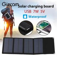USB Solar Panel 7W 5V Portable Fast Charger Solar Charger Pane Waterproof Outdoor Solar Generator Foldable Solar Panel
