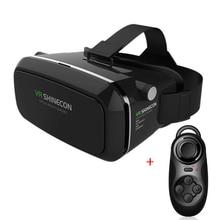 Shinecon VRความจริงเสมือนแว่นตา3Dของg oogleกระดาษแข็งหัวหน้าเมา3Dภาพยนตร์เกม3.5-6.0นิ้ว+บลูทูธระยะไกลควบคุม