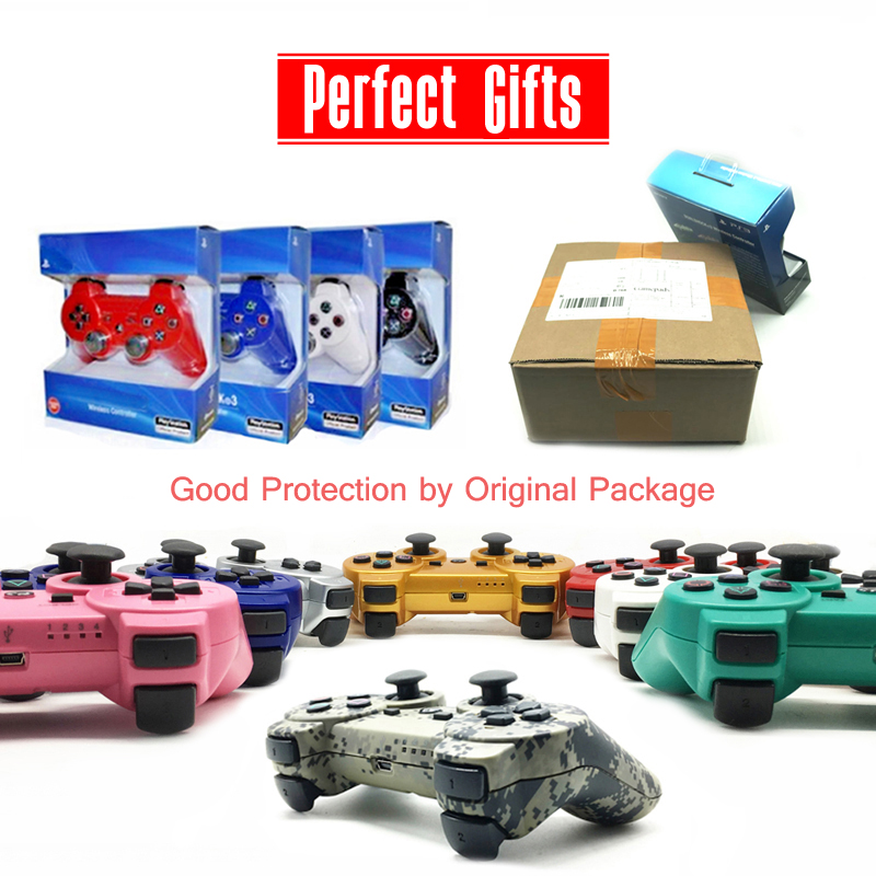цена на For SONY PS3 Controller Bluetooth Gamepad for Play Station 3 Joystick Wireless for Sony Playstation 3 With Package boxes Gifts